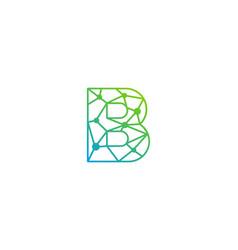 b letter network logo icon design vector image