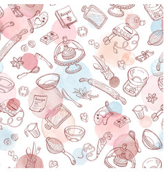 Baking watercolor pattern vector