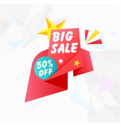banner big sale 50 off image vector image