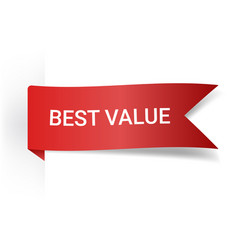Best value realistic detailed curved paper banner vector