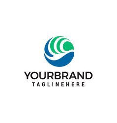 bird circle logo design concept template vector image