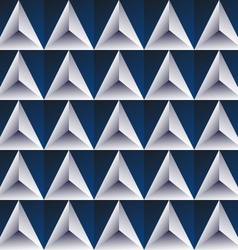 Blue regular triangular background vector