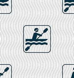 canoeing sign Seamless pattern with geometric vector image