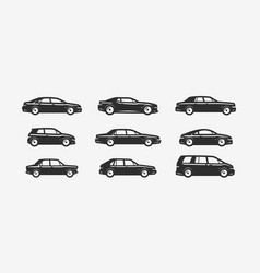 car icon set transportation transport symbol vector image