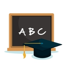 Chalkboard school isolated icon vector