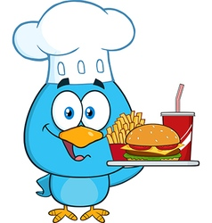 Chef Bird Cartoon vector image