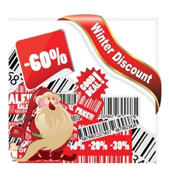 Christmas discount banner vector