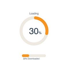 circle loading and progress bars vector image
