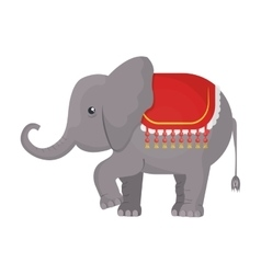 Circus elephant animal cartoon design vector image