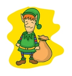 Collection of Christmas elf cartoon vector