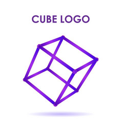 cube 3d technology logo vector image