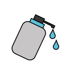 Dispenser bottle gel liquid soap lotion vector