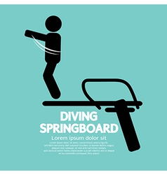 Diving springboard vector