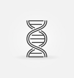 dna spiral outline concept icon vector image
