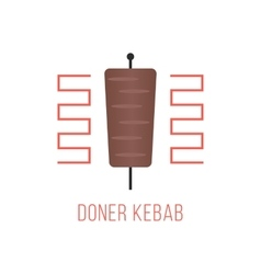 doner kebab logo isolated on white background vector image