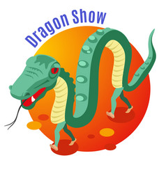 dragon show background vector image