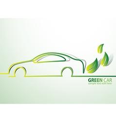Eco car2 vector image