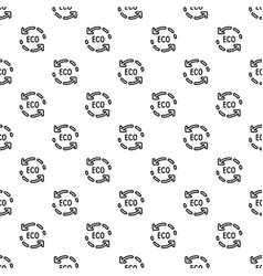 eco recycle arrow pattern seamless vector image