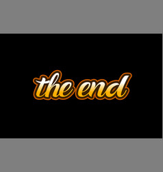 end word text banner postcard logo icon design vector image