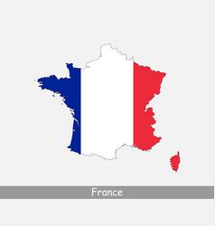 France map flag vector