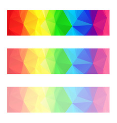 Full spectrum color rainbow strip banners vector
