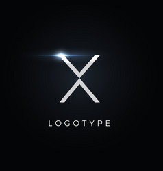 Futurism style letter x minimalist type vector