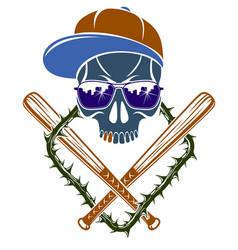 gang brutal criminal emblem or logo vector image