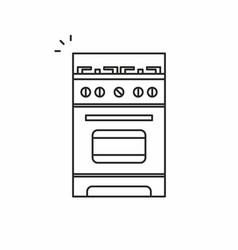 gas stove icon vector image