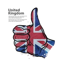 Hand gesture thumb up flag of England vector