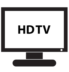 HD TV Icon vector