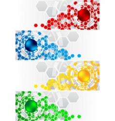 Hexagon vector