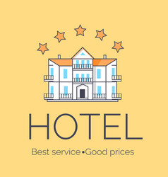 hotel five stars icon vector image