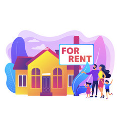 house for rent concept vector image