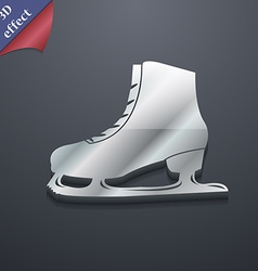 Ice skate icon symbol 3D style Trendy modern vector