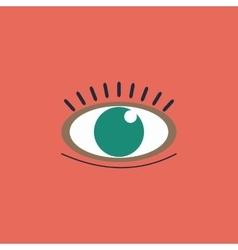 icon - Human eye vector image