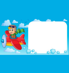 image with airplane theme 3 vector image