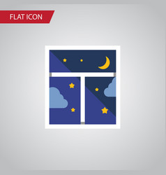 isolated night sky flat icon frame element vector image