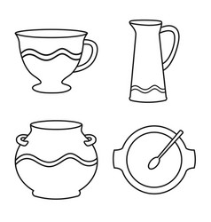 Isolated object ware and tableware logo vector