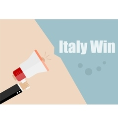 Italy win Flat design business vector