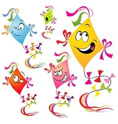 kites cartoon vector image