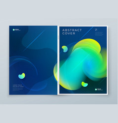 Liquid abstract cover background design fluid vector