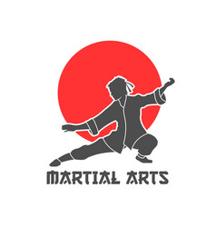 Martial arts logo vector