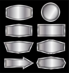 metal sign isolated vector image
