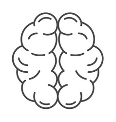 mind brain icon outline style vector image
