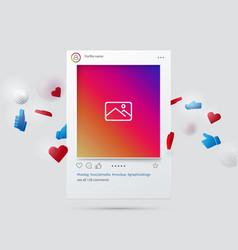 mockup social network interface social media vector image