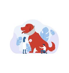 modern animal clinic concept vector image
