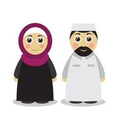 Muslim couple man and woman vector image