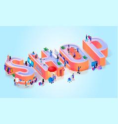 online shop smart business typography banner vector image
