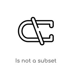 outline is not a subset icon isolated black vector image