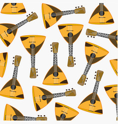 Pattern from music instrument balalaika vector